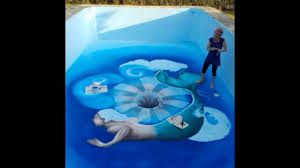 3d Murals by 3d Painting Swimming Pool 3d Mural U0027a Hole In The Water U0027 By