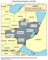 michigan area code map cbic 2 recompete competitive bidding area detroit