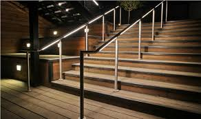 Stair Banister Awesome Stair Handrail Lighting Installation Stair Handrail
