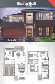 house plan dimensions two storey house design with floor plan elevation plans