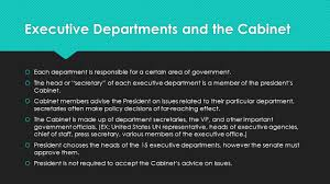 The Cabinet Members The Executive Departments And The President U0027s Cabinet Ppt Download