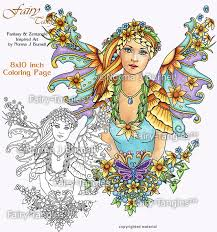 sunflower fairy printable coloring book sheets norma