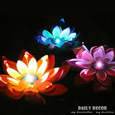 7 colors changing artificial plastic lotus flowers with led lights