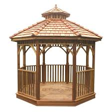 Home Depot Patio Gazebo by Outdoor Living Today 10 Ft Bayside Octagon Panelized Gazebo