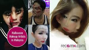 professional halloween makeup kits 5 freaky halloween faces by malaysian makeup artists