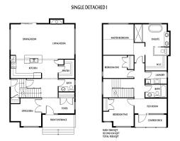 2 storey detached homes blueprints