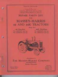 massey harris 44 and 44k tractor parts manual mh 1950 u2022 cad 26 02