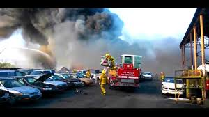cadillac jeep bedroom wonderful los angeles auto wrecking yard fire sends huge