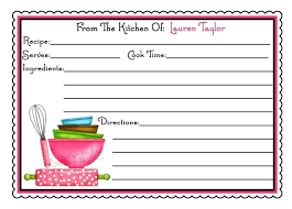 personalized recipe cards littlebeane mixing bowls kitchen