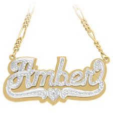 name necklace from images Double plated nameplate necklace jessica alba aubrey o 39 day jpg