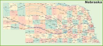 Utah Cities Map by Road Map Of Nebraska With Cities