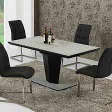 Dining Room Furniture Denver Black Extendable Dining Table Large Size Of Black Brown Wood