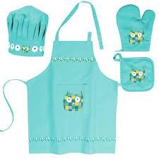 tablier cuisine enfants lot enfant tablier toque gant manique cho achat vente