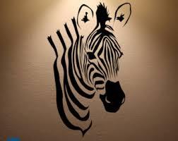 Animal Print Wall Decor Zebra Wall Art Etsy