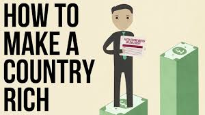 what country makes how to a country rich