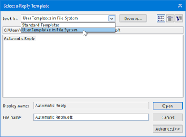 out of office assistant automatic replies howto outlook