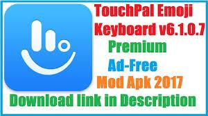 touchpal x keyboard apk free touchpal emoji keyboard v6 1 0 7 premium ad free mod apk 2017