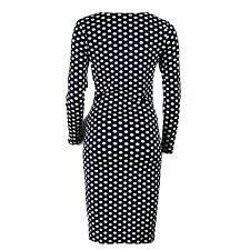 bureau d ot femmes formelle costume dress bureau d affaires robes dot impression