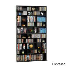 Just Cabinets And More by Atlantic Oskar Media Tower 1080 Cd 504 Dvd Cabinet Espresso