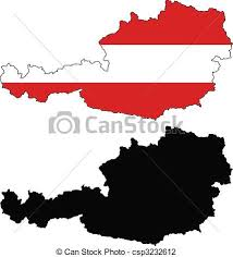 austria map vector vector map and flag of austria with white background vector