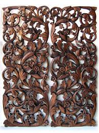 flower tree branch new wood carving home wall panel mural decor