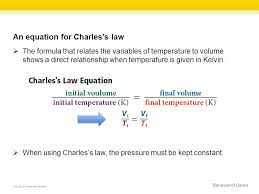 an equation for charles s law