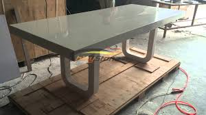 Corian Artificial Stone Solid Surface Dining Table For  Seats - Corian kitchen table