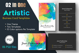artistic business card template 009 business card templates