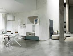living room living room contemporary concrete wall open space