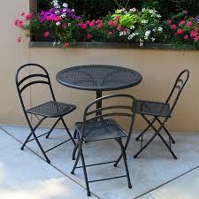 Metal Folding Bistro Chairs Amazing Folding Bistro Table Metal With Metal Folding