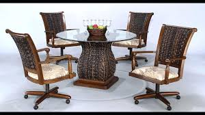 dining table with caster chairs kitchen sets with rolling chairs kitchen table dinette sets from for