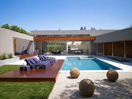 u shaped house plans with pool modern u shaped residence built around a central leisure courtyard