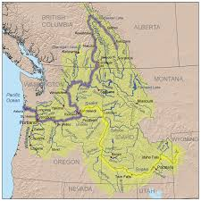 Map Of Spokane Columbia River American Rivers
