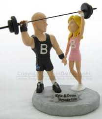 weight lifting cake topper work out theme wedding cake toppers with barbell weight lifting
