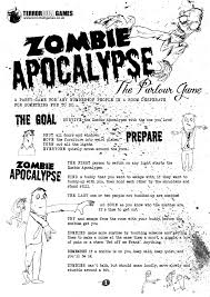 print and play zombie apocalypse the parlour game terrorbull