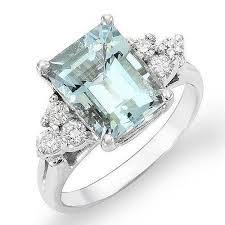 beautiful ladies rings images Estate aquamarine ring ebay JPG
