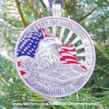 White House Christmas Ornaments Collection by United In Memory September 11th Ornament Commemorative Ornaments