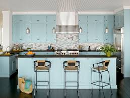 kitchen style pastel blue kitchen design planning space saving