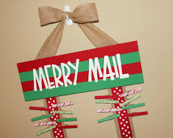 christmas card holder merry mail christmas card holder display burlap ribbons wooden
