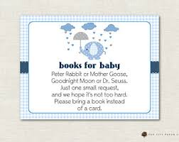 baby shower bring book instead of card book instead of card etsy