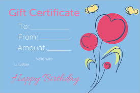 sample birthday gift certificate template 7 download documents