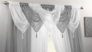 Black And White Valances Voile Swag Swags Tassle Decorative Net Curtain Drapes Pelmet