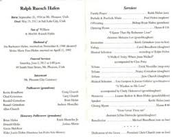 program for funeral service burial funeral planning