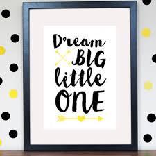 dream big little one arrow nursery print from gw prints gw