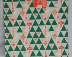 modern christmas wrapping paper mid century etsy