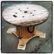 Wooden Spool Table For Sale Table Made Out A Discarded Wire Spool U2022 1001 Pallets
