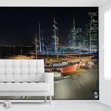 south st seaport ny at night photography wall mural self