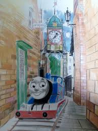 Thomas The Tank Wall Mural Commissions And Other Works John Donnelly Freelance Artist
