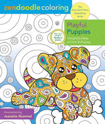 zendoodle coloring playful puppies delightful dogs color