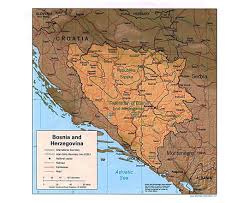 Define Political Map Maps Of Bosnia And Herzegovina Detailed Map Of Bosnia And